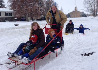 Homemade sled for Boy Scouts! Yeehah!