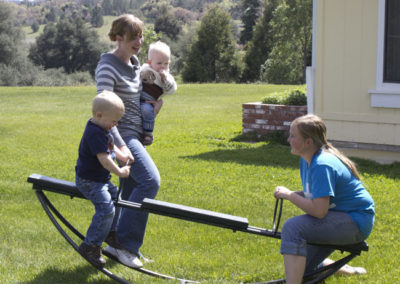 Teeter-totter at grandma's house