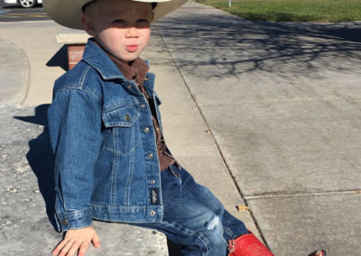 Yes, #3 son loves his cowboy boots!